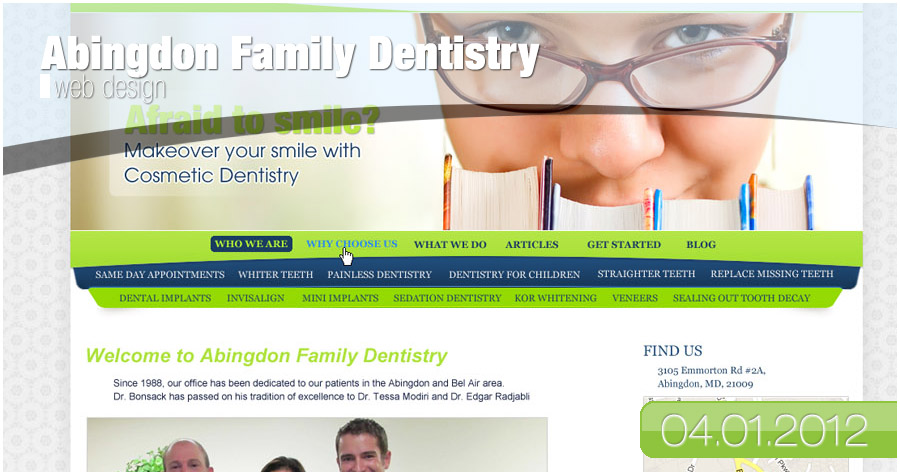 Abingdon Family Dentistry - Web Design